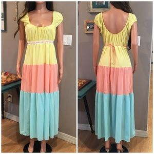 Beautiful vintage pastel maxi nightgown